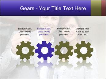 Couple holding door keys PowerPoint Templates - Slide 48