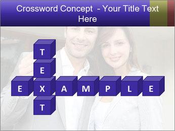 Couple holding door keys PowerPoint Templates - Slide 82