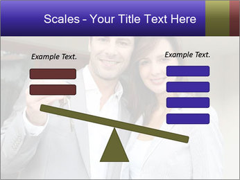 Couple holding door keys PowerPoint Templates - Slide 89
