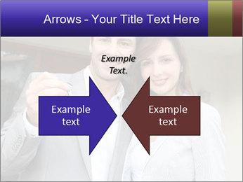 Couple holding door keys PowerPoint Templates - Slide 90