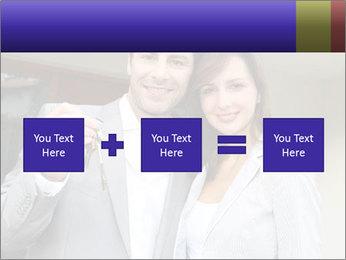 Couple holding door keys PowerPoint Templates - Slide 95