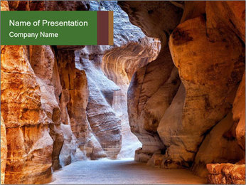 Stone gallery PowerPoint Template - Slide 1