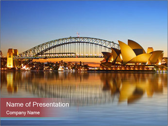 The Sydney Opera House PowerPoint Templates - Slide 1