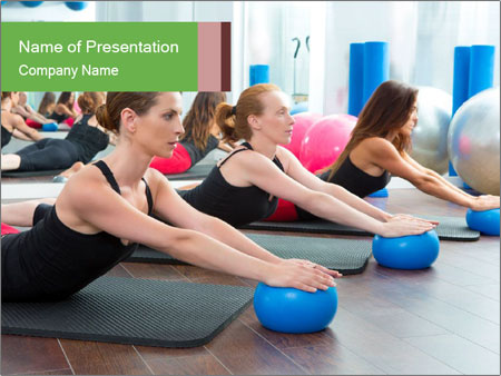 Aerobics pilates PowerPoint Templates
