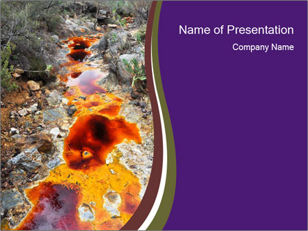 Source of Tinto river PowerPoint Templates