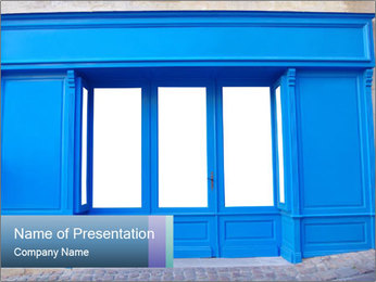 Front store PowerPoint Templates - Slide 1