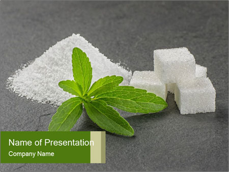 Stevia leaves PowerPoint Templates