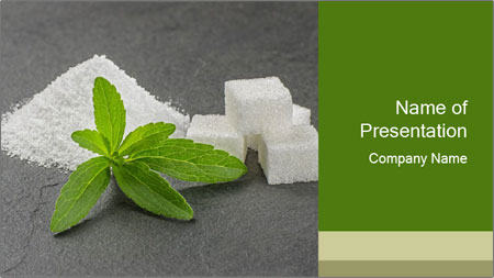Stevia leaves PowerPoint Template