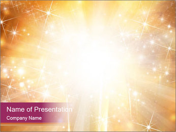 Abstract Christmas PowerPoint Template - Slide 1