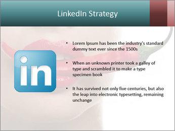 Female lips PowerPoint Template - Slide 12