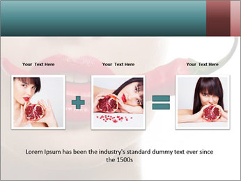 Female lips PowerPoint Templates - Slide 22