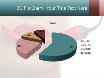 Female lips PowerPoint Template - Slide 35