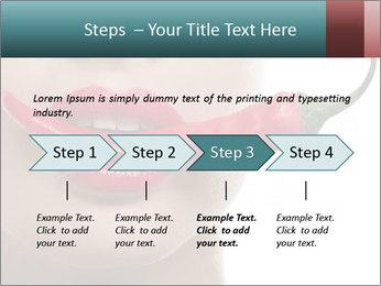 Female lips PowerPoint Template - Slide 4