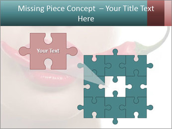 Female lips PowerPoint Templates - Slide 45