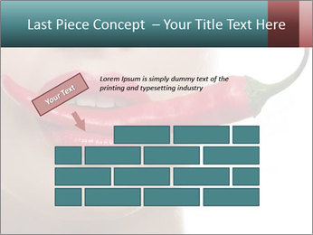 Female lips PowerPoint Templates - Slide 46