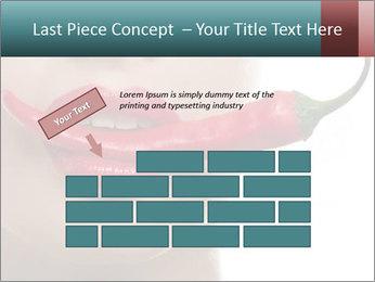 Female lips PowerPoint Template - Slide 46