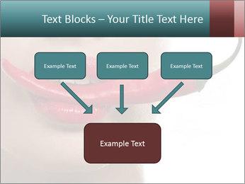 Female lips PowerPoint Template - Slide 70