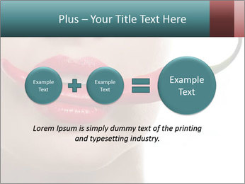 Female lips PowerPoint Template - Slide 75