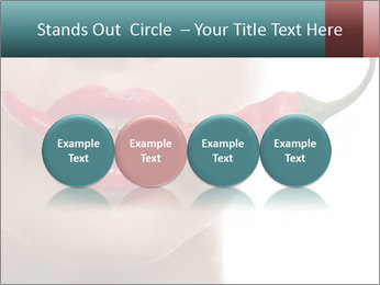 Female lips PowerPoint Templates - Slide 76