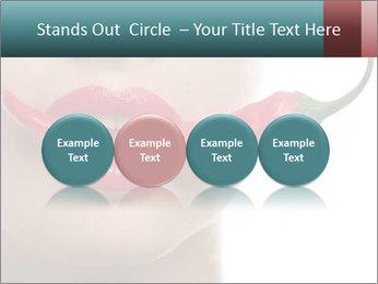 Female lips PowerPoint Template - Slide 76