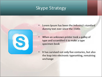 Female lips PowerPoint Template - Slide 8