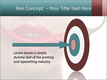 Female lips PowerPoint Template - Slide 83