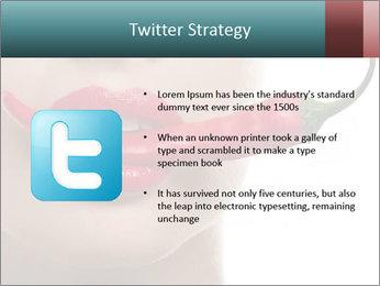 Female lips PowerPoint Template - Slide 9