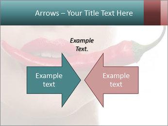 Female lips PowerPoint Template - Slide 90