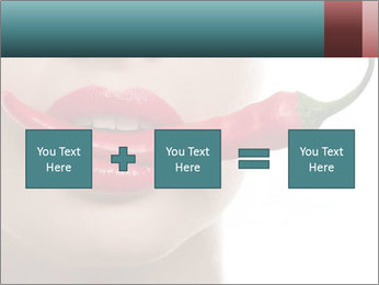 Female lips PowerPoint Templates - Slide 95