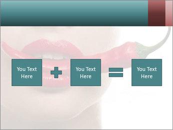 Female lips PowerPoint Template - Slide 95