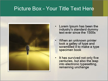 Darkness on the middle of road PowerPoint Template - Slide 13