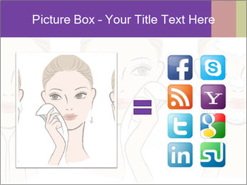 Woman in process of washing face PowerPoint Templates - Slide 21