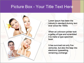 Woman in process of washing face PowerPoint Templates - Slide 23