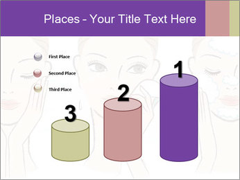 Woman in process of washing face PowerPoint Templates - Slide 65