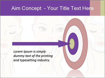 Woman in process of washing face PowerPoint Templates - Slide 83