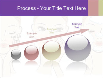 Woman in process of washing face PowerPoint Templates - Slide 87