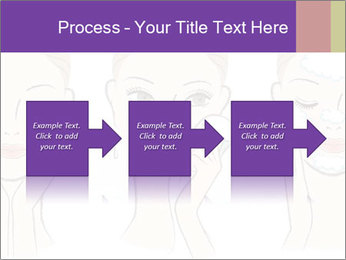 Woman in process of washing face PowerPoint Templates - Slide 88