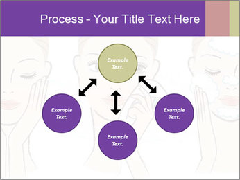 Woman in process of washing face PowerPoint Templates - Slide 91
