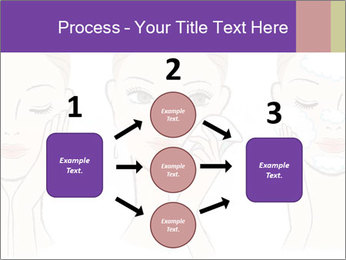 Woman in process of washing face PowerPoint Templates - Slide 92