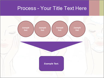 Woman in process of washing face PowerPoint Templates - Slide 93