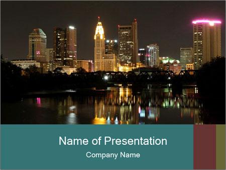 Night lights City PowerPoint Templates