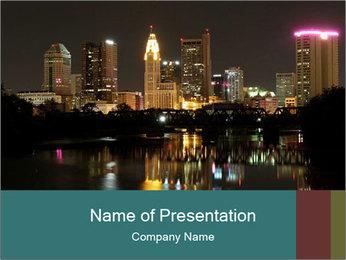 Night lights City PowerPoint Templates - Slide 1