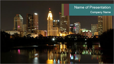 Night lights City PowerPoint Template