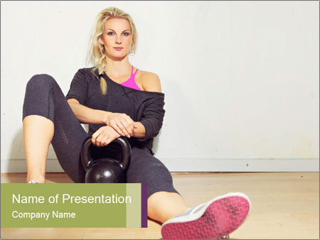 Healthy girl relaxing PowerPoint Templates