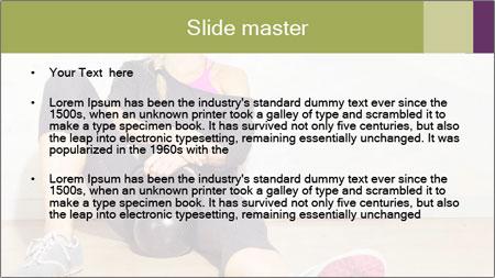 Healthy girl relaxing PowerPoint Template - Slide 2