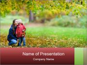 Beautiful autumn park PowerPoint Templates