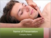 Man enjoying face massage PowerPoint Templates