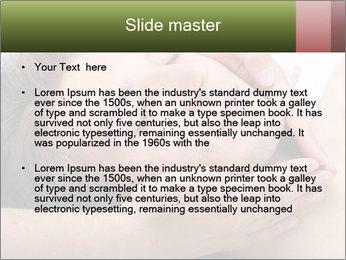 Man enjoying face massage PowerPoint Templates - Slide 2