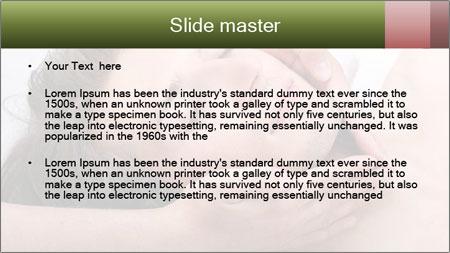 Man enjoying face massage PowerPoint Template - Slide 2