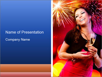 Celebrating Woman PowerPoint Template - Slide 1